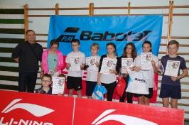 Mikołajkowy Turniej Badmintona w Lubniewicach